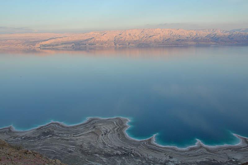La Mer Morte...Au loin, la Jordanie